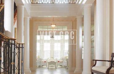 Đầu cột nhựa GRP trang trí nội thất công trình đẹp hiện đại và sang trọng
